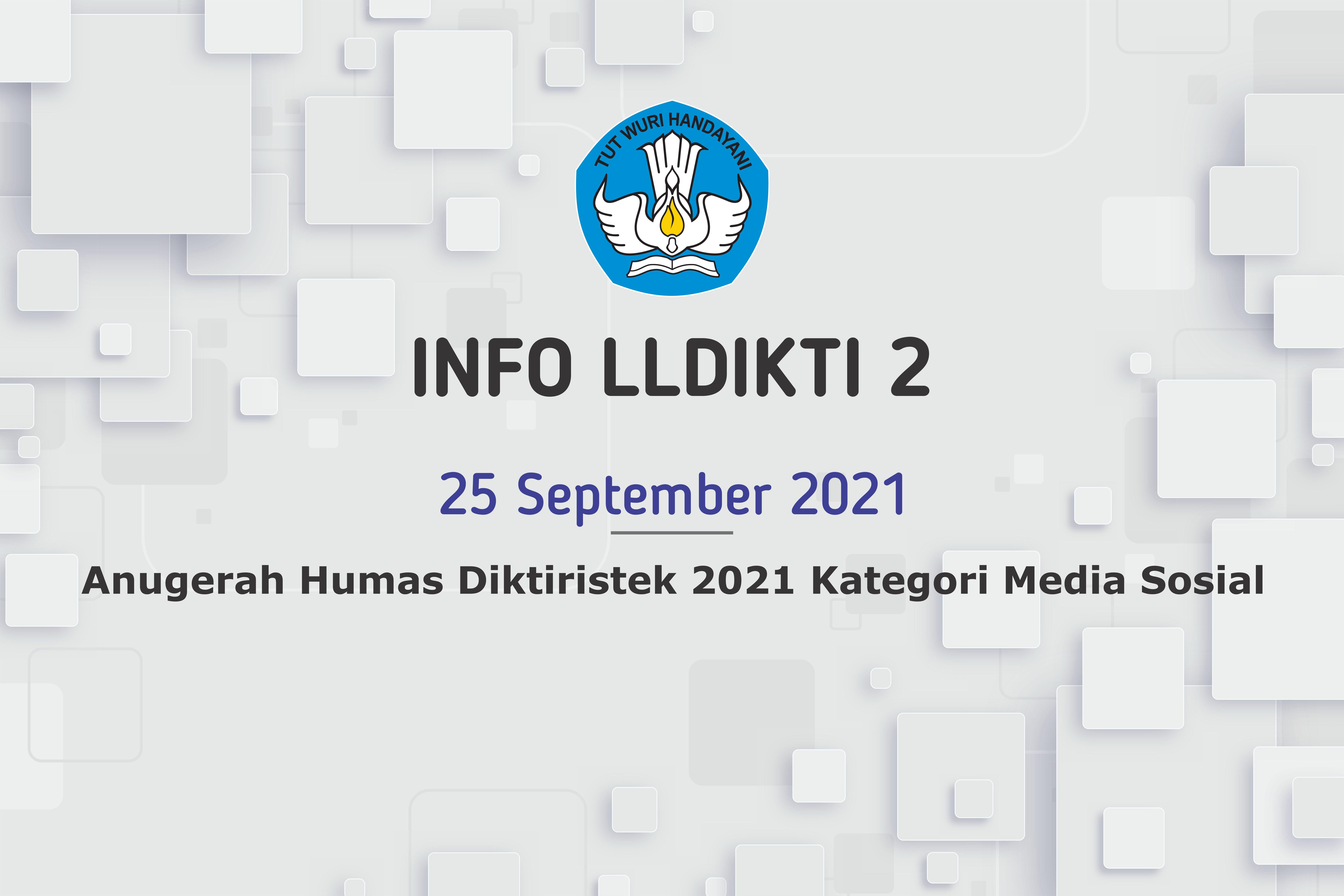 Anugerah Humas Diktiristek 2021 Kategori Media Sosial