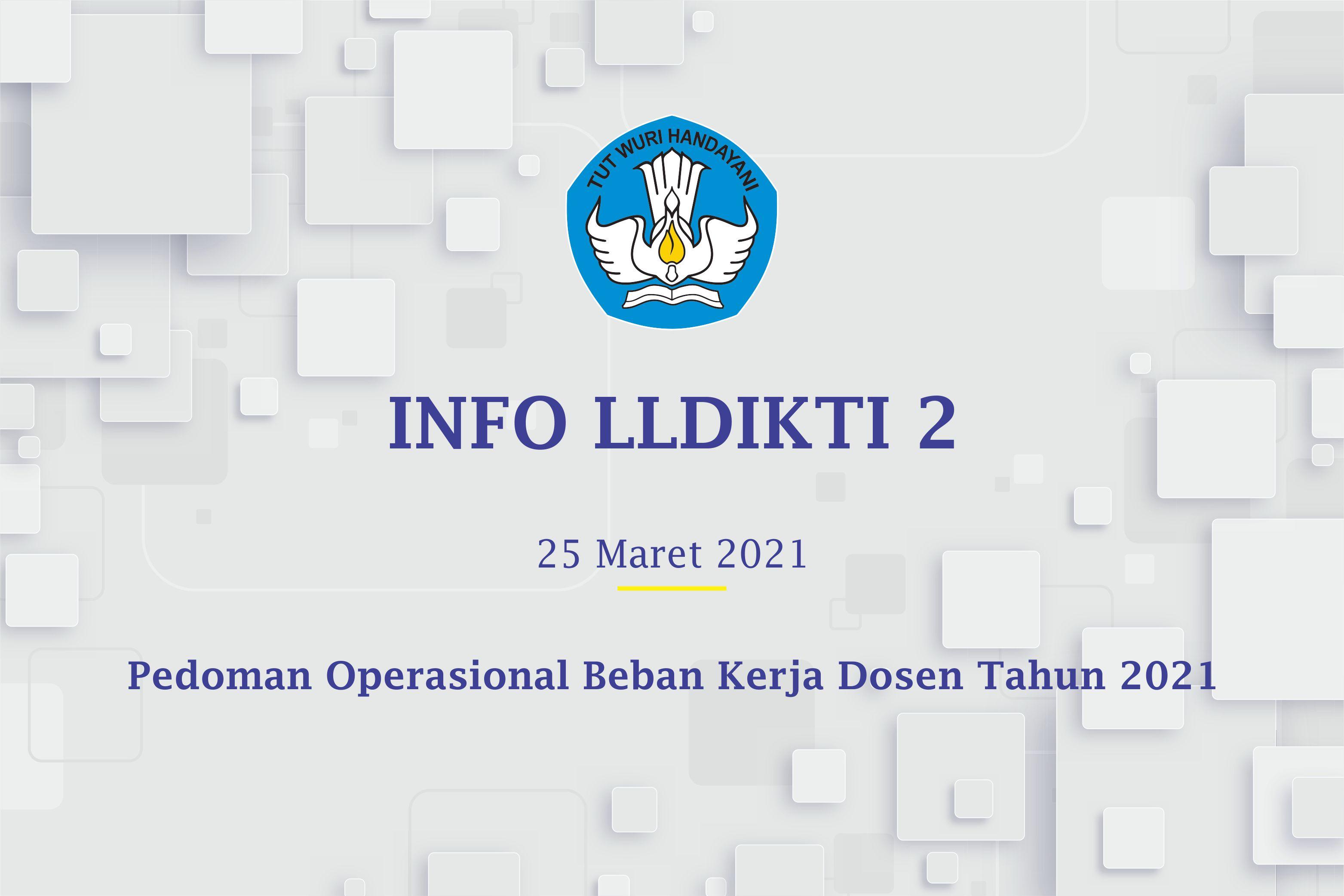 Pedoman Operasional Beban Kerja Dosen Tahun 2021