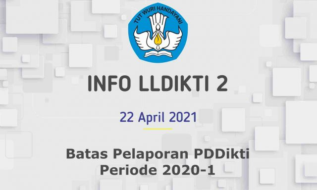 Batas Pelaporan PDDikti Periode 2020-1