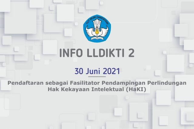 Pendaftaran sebagai Fasilitator Pendampingan Perlindungan Hak Kekayaan Intelektual (HaKI)