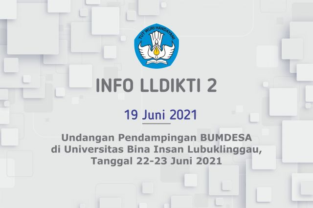 Undangan Training of Trainer (ToT) Pendampingan Bumdes, Tanggal  22-23 Juni 2021