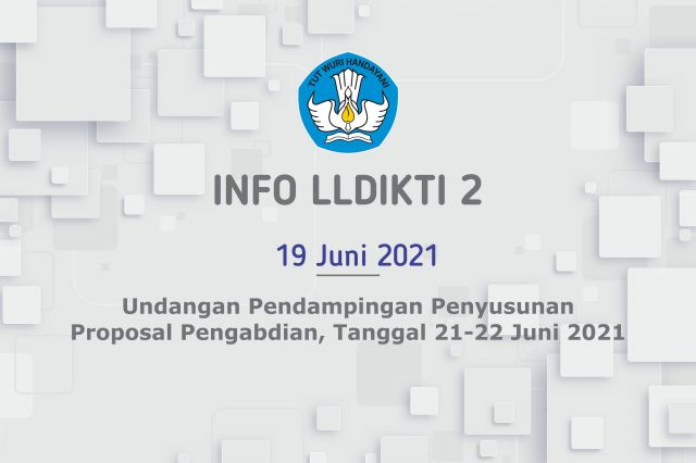 Undangan Pendampingan Penyusunan Proposal Pengabdian, Tanggal 21-22 Juni 2021