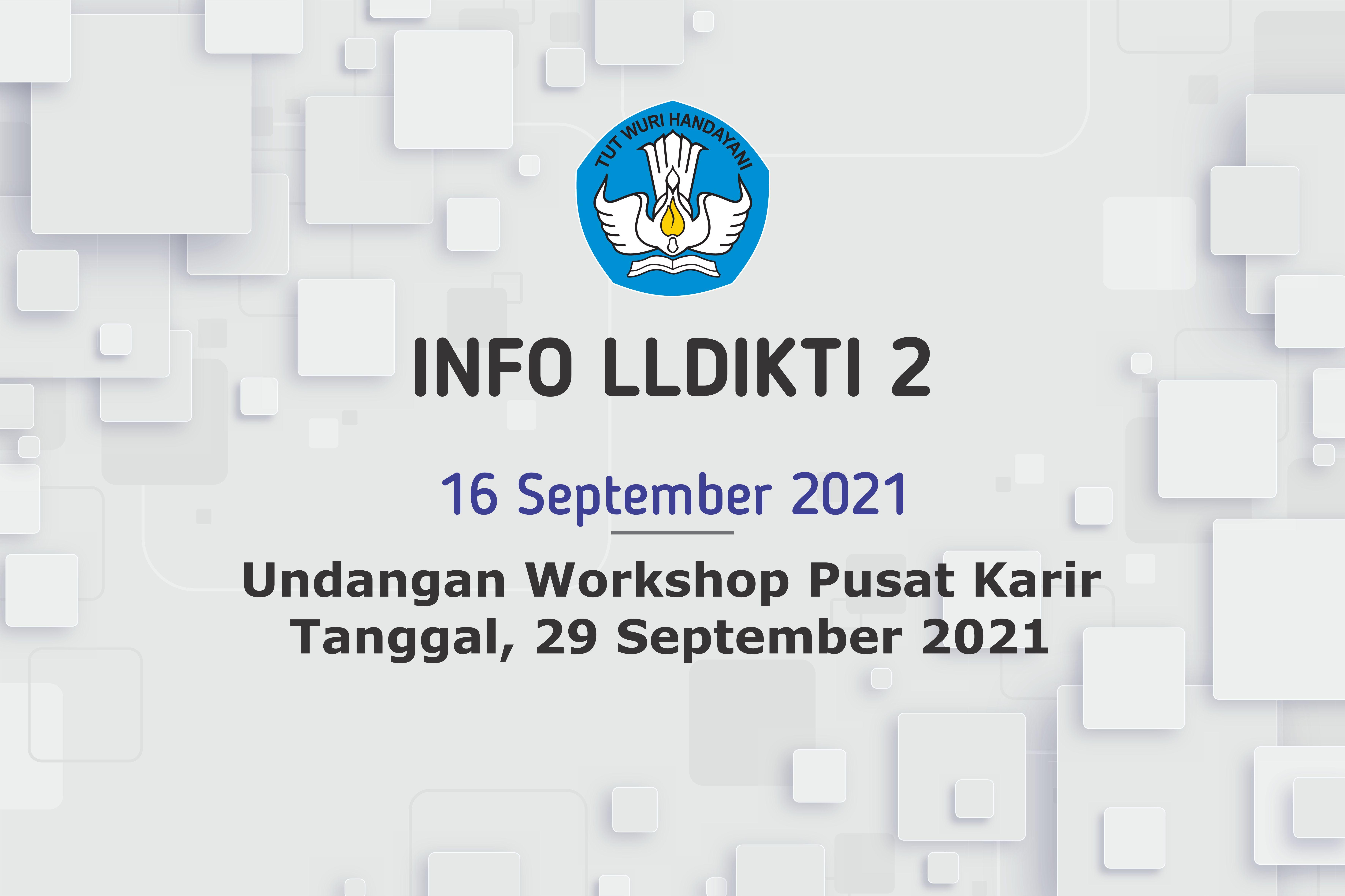 Undangan Workshop Pusat Karir Tanggal, 29 September 2021